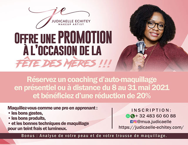 Mother's Day flyer Cour d'auto-maquillage